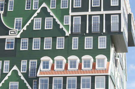 zaandam: A mix of modern and traditional Dutch architecture