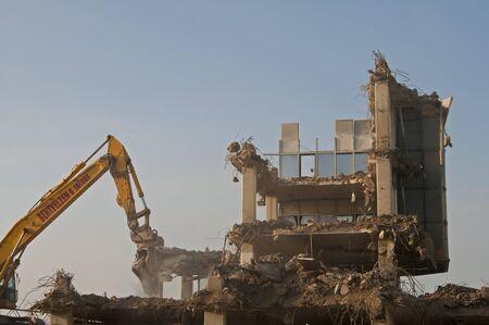 Taking down buildings in Zaandam, the Netherlands Editorial