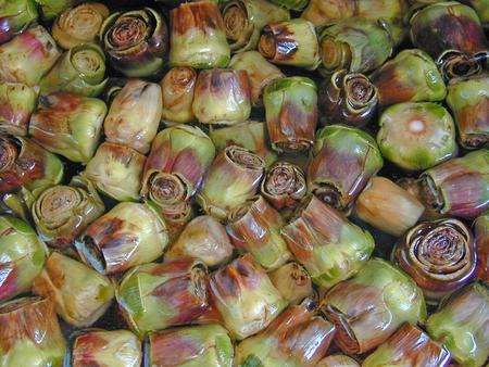 Fresh artichoke hearts are ready to eat Stock Photo