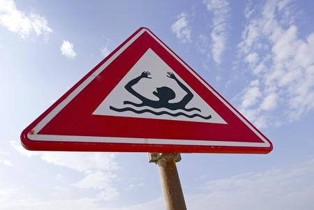 泳ぐ、オランダに禁じられた署名します。 写真素材