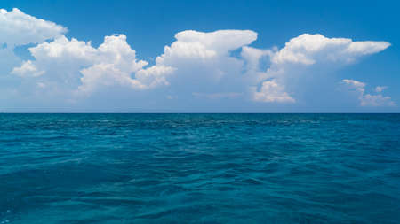 clear waters: Clouds over crystal clear waters of Mediterranean sea