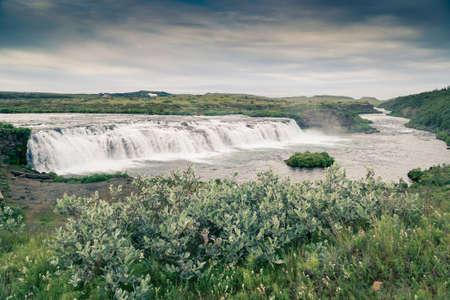Vatnsleysufoss (Faxi) waterfall, Iceland