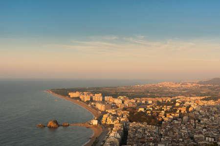 Panorama von Blanes, Spanien