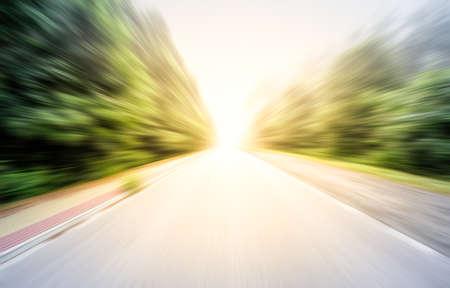 빈 도로를 따라 스톡 콘텐츠