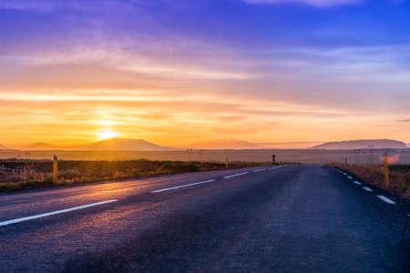 Autobahn zum nirgendwo Lizenzfreie Bilder