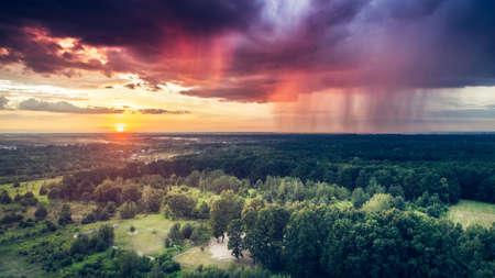 Rain and sun Lizenzfreie Bilder