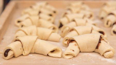 Crescent rolls ready to bake Reklamní fotografie