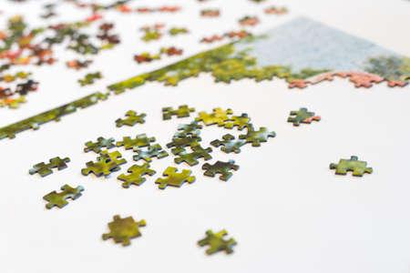 Pieces of a puzzle Standard-Bild