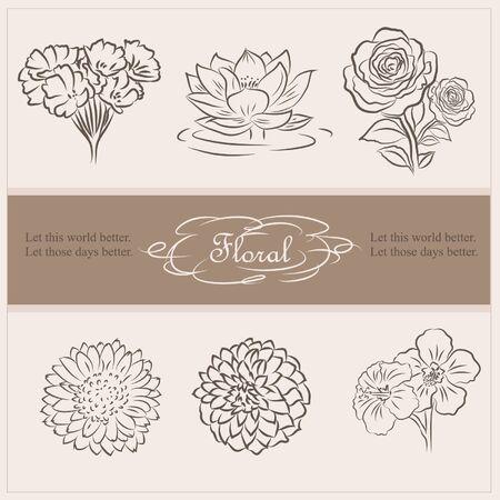 클래식 꽃