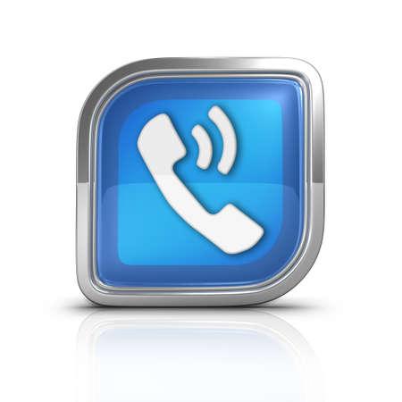 directorio telefonico: Llamada de tel�fono azul del icono del Web se�al muy �til