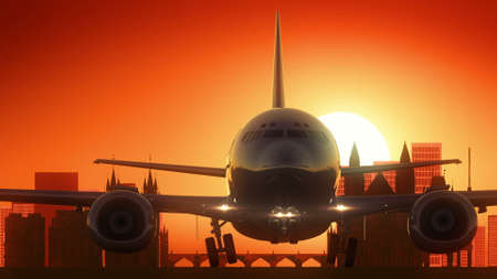 famous industries: Plane background