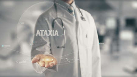 Doctor holding in hand Ataxia