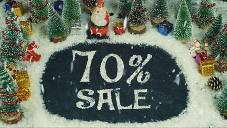 Stop motion animation of 70 % Sale