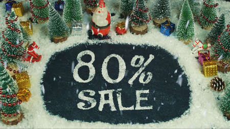 Stop motion animation of 80 % Sale
