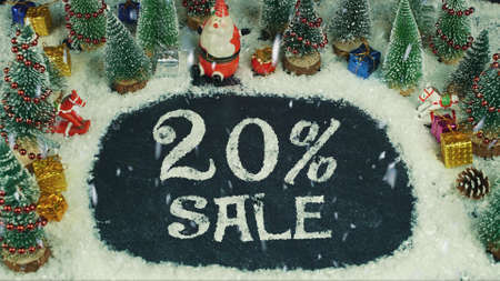 Stop motion animation of 20 % Sale