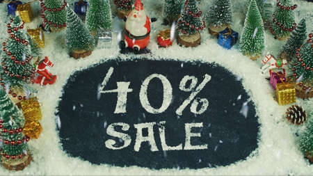 Stop motion animation of 40% Sale 스톡 콘텐츠