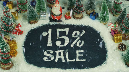 Stop motion animation of 15 % Sale