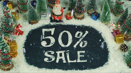Stop motion animation of 50 % Sale 免版税图像