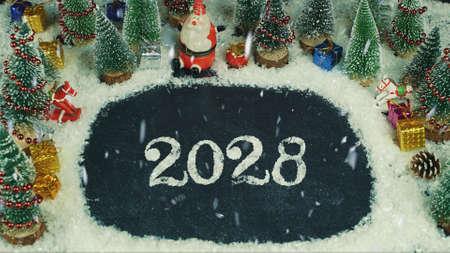 Stop motion animation of 2028 lettering Standard-Bild