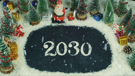 Stop motion animation of 2030 lettering
