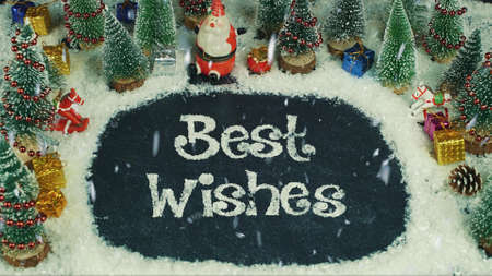 Stop motion animation of Best Wishes