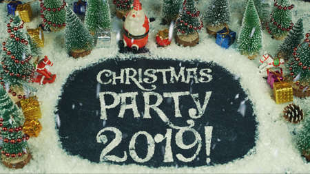 Stop motion animation of Christmas party 2019 免版税图像