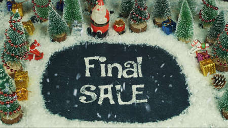Stop motion animation of Final Sale