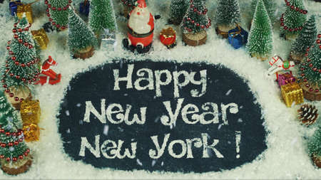 Stop motion animation of Happy New Year New York 스톡 콘텐츠