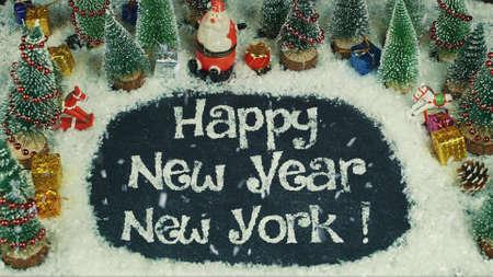 Stop motion animation of Happy New Year New York Standard-Bild
