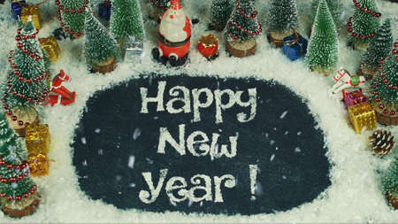 Stop motion animation of Happy New Year