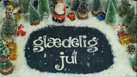 Stop motion animation of Glædelig Jul (Danish), in English Merry Christmas
