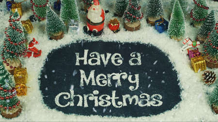 Stop motion animation of Have a Merry Christmas