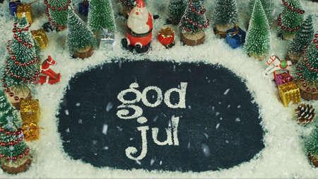 Stop motion-animatie van God Jul (Noors), in het Engels Merry Christmas