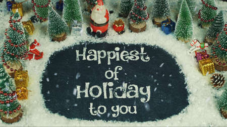 Stop motion animation of Happiest of Holiday to You