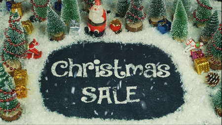 Stop motion animation of Christmas Sale 免版税图像