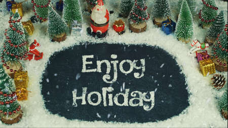 Stop motion animation of Enjoy Holiday