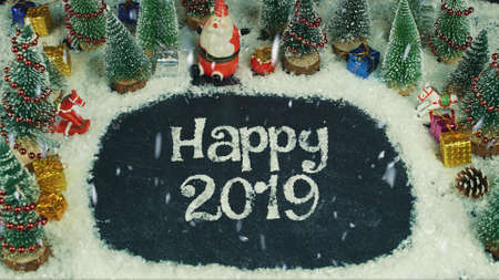 Stop motion animation of Happy 2019
