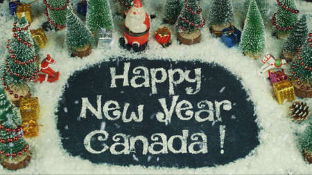 Stop motion animation of Happy New Year Canada 免版税图像