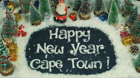 Stop motion animation of Happy New Year Cape Town