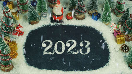 Stop motion animation of 2023 lettering
