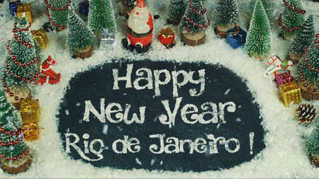 Stop motion animation of Happy New Year Rio de Janeiro