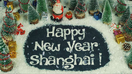 Stop motion animation of Happy New Year Shanghai