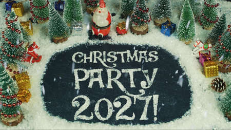 Stop motion animation of Christmas party 2027