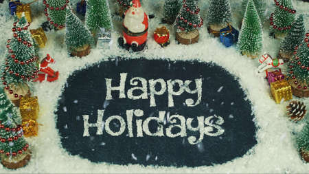 Stop motion animation of Happy Holidays