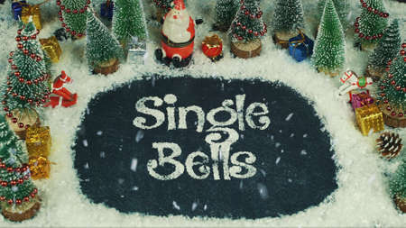 Stop motion animation of Single Bells