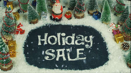 Stop motion animation of Holiday Sale 스톡 콘텐츠