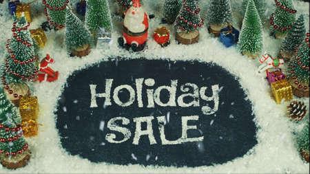 Stop-motionanimatie van Holiday Sale Stockfoto