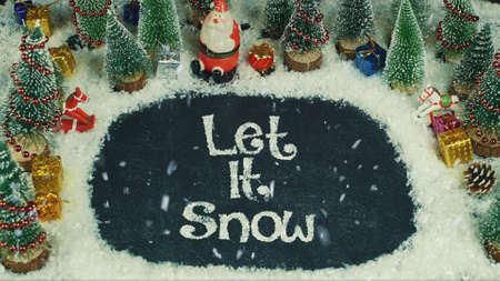 Stop motion animation of Let it Snow