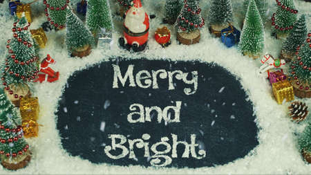 Stop motion animation of Merry and Bright 免版税图像