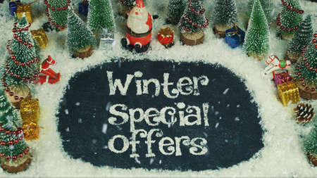 Stop motion animation of Winter Special Offers 免版税图像